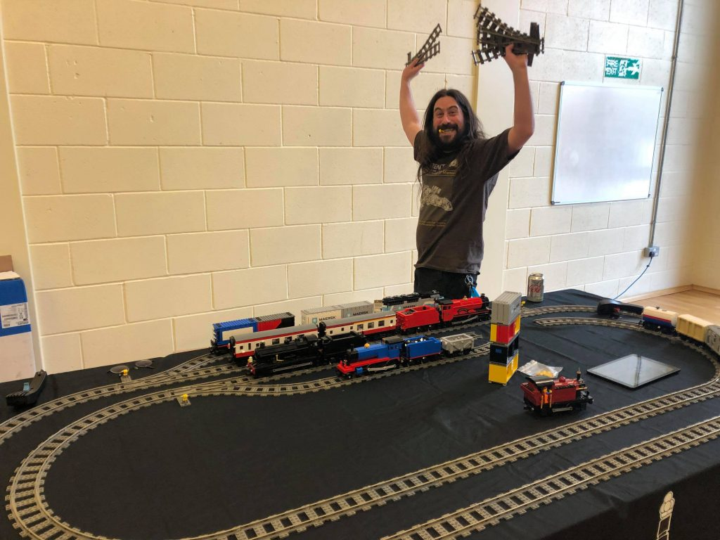 Will, LEGO train fan and founder of Block Junction