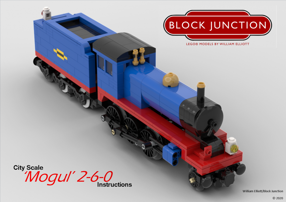Fine Scale Lego instructions for the 'Mogul' 2-6-0