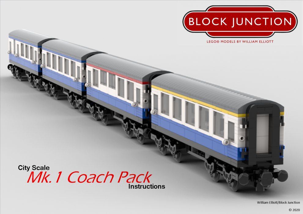 City Scale Lego instructions Mk1 Coaches for