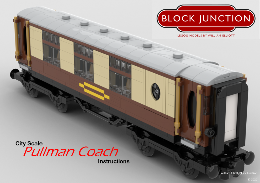 City Scale Lego instructions for Pullman Coaches