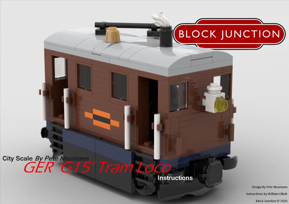 City Scale Lego instructions for the W&U Tram Loco 0-4-0 [Pete Nuemann]