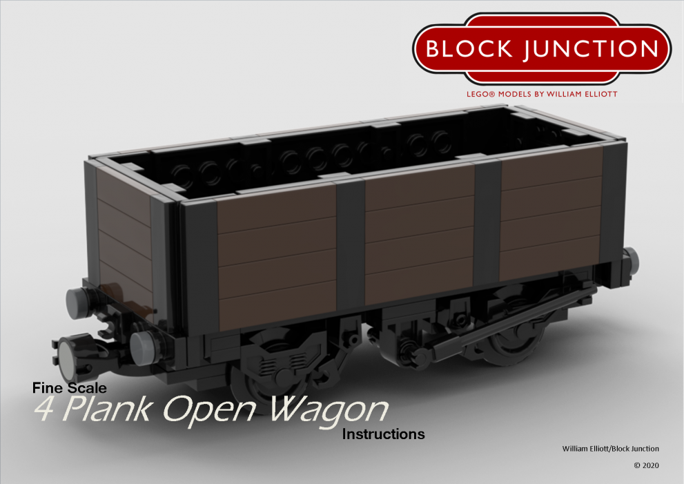 Fine Scale Lego instructions for 4 Plank Open Wagons