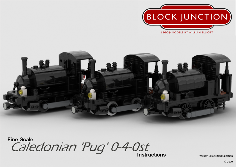 Fine Scale Lego instructions for the Caledonian Pug 0-4-0st