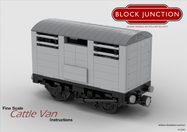 Fine Scale Lego instructions for Cattle Vans