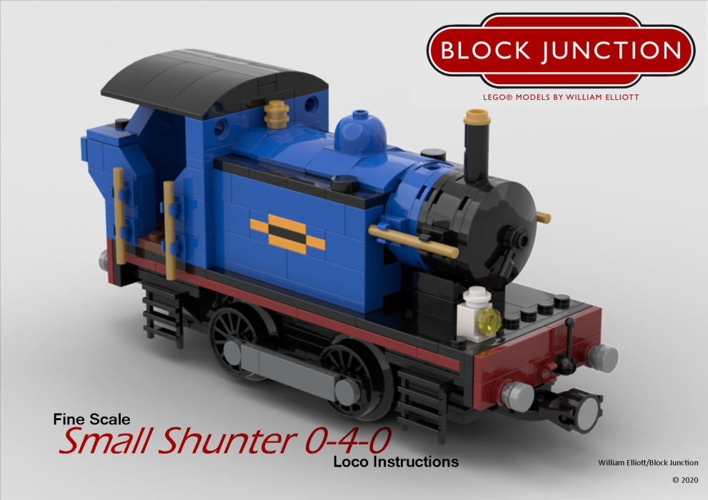 Fine Scale Lego instructions for the Small Shunter 0-4-0t