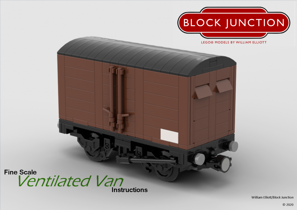 Fine Scale Lego instructions for Ventilated Vans
