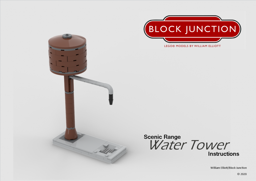 Scenic Range Lego instructions for a Water Tower