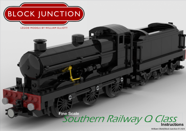 Fine Scale Lego instructions for the Southern Railway Q Class